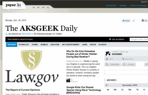 aksgeek paper.li newspaper