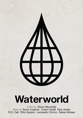 'Waterworld' pictogram movie poster