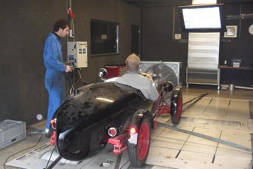 Rosengart LR6 op de testbank
