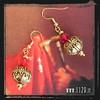 LNDORE orecchini rossi dorati golden red earrings 1129