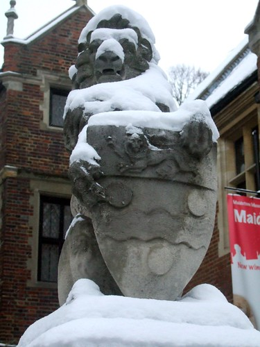 Maidstone Adult Ed Centre - Snow Covered Lion