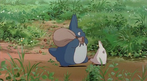 totoro pair, with sack