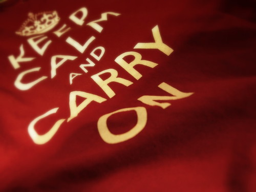 KEEP CALM AND CARRY ON by Verishtizia, on Flickr