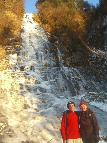 Nick and me at the Frozen Waterfall