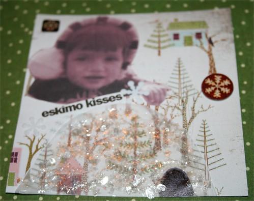 "Eskimo Kisses 4"" x 4 "" Collage Card"