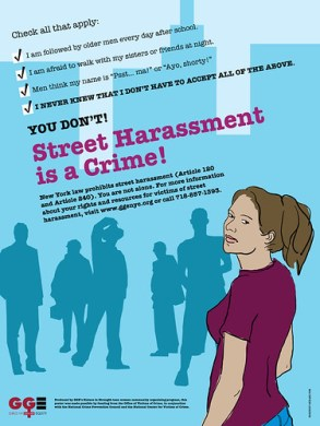 street harassment is a crime poster