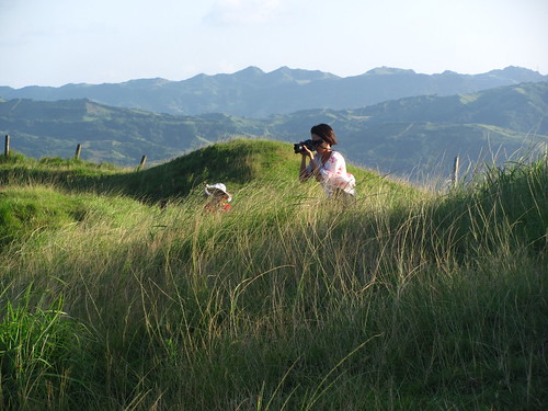 The photographer, Rolling Hills, Batan Island, Batanes