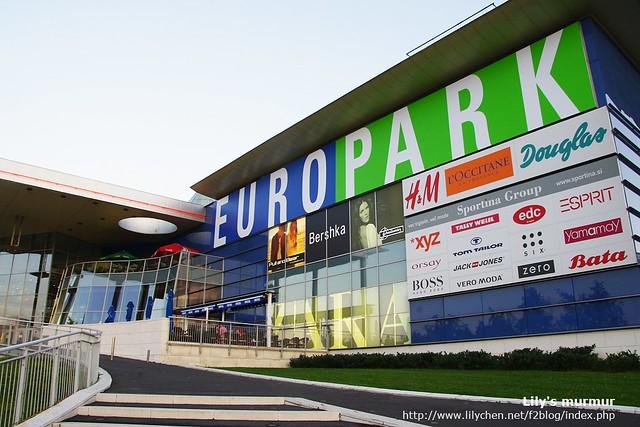 這就是EUROPARK,有我的愛牌Bershka,是跟Zara同集團的,這裡也有H&M。