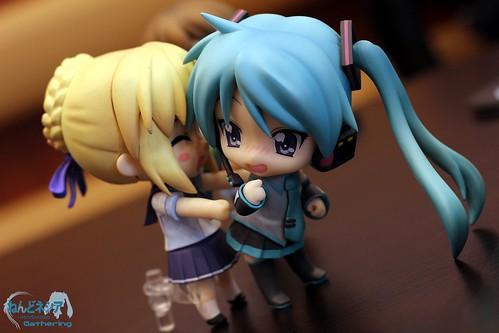 Saber and Kagamiku are having fun