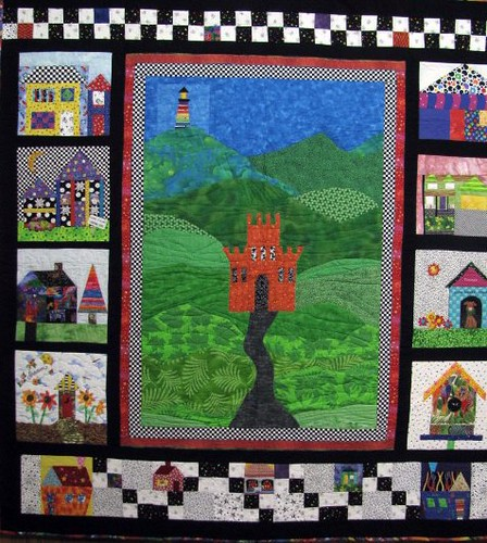 Houses, Val Bailie, The Fabric Stalker May Gallery Exhibit @Quiltworks