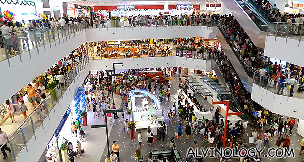 Look at the volume of people in the mall!