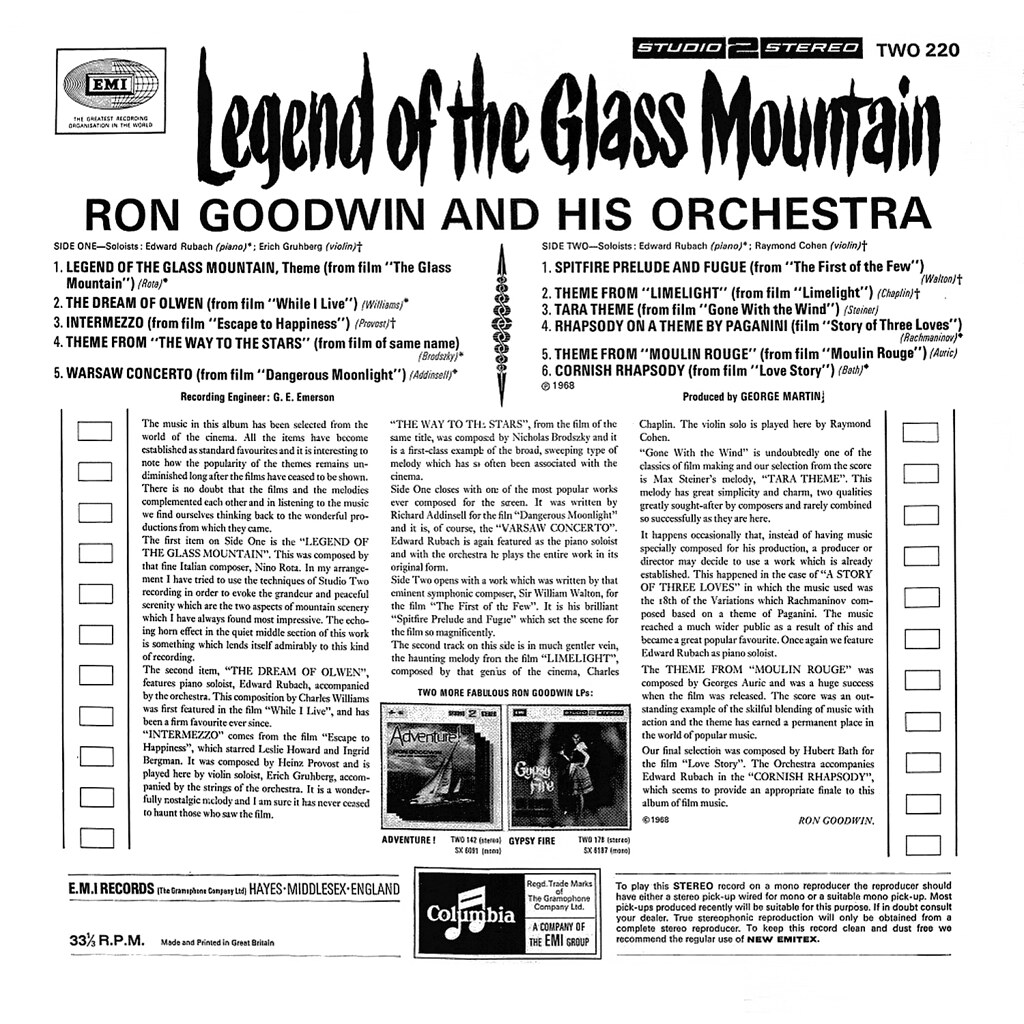 Ron Goodwin - Legend of the Glass Mountain