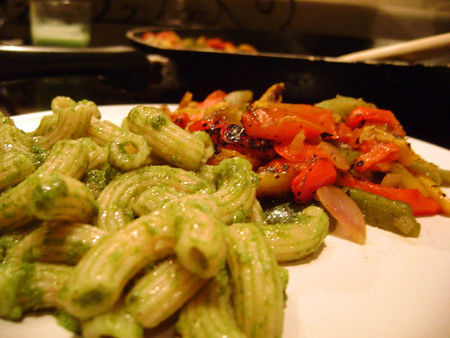 Pesto Pasta and Veggies