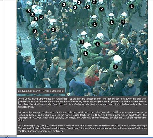 Beispiel Greiftrupp aus dem Polizeibericht Berlin 2010