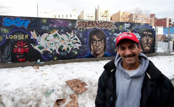 Jesus and Graffiti:  Mott Haven Bronx