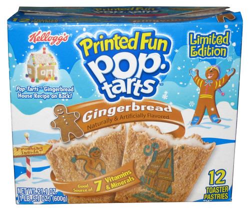 Kellogg's Limited Edition Gingerbread Printed Fun Pop-Tarts