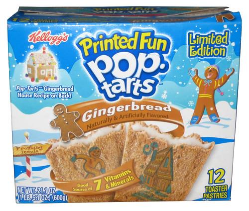 Kellogg's Limited Edition Gingerbread Printed Fun Pop-Tarts