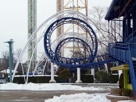 Cedar Point - Off-Season Corkscrew