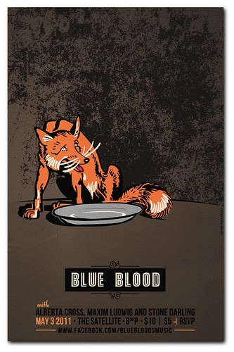 Gigposter for Blue Blood in Los Angeles.