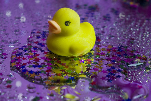 Twinkle Twinkle Little Duck - rubber duck with glitter