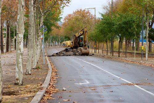 Corte en Ronda Sant Martí con Pont del Treball 03- 09-12-10
