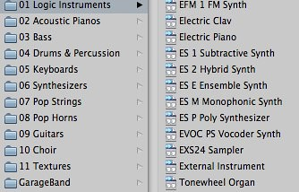 Logic Express - Software Instrument Library