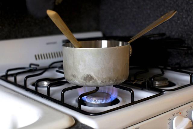 heating the milk