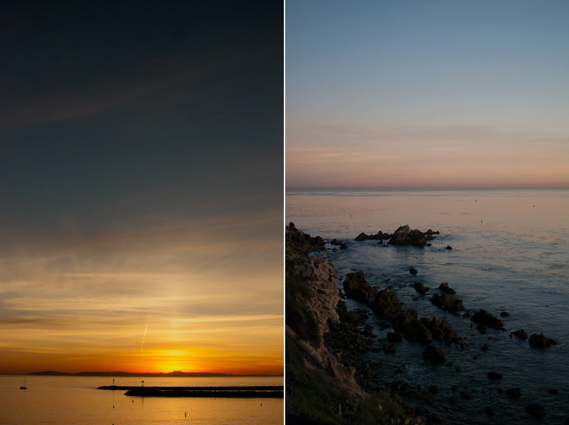 sunset at corona del mar