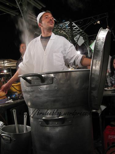 big steaming pot