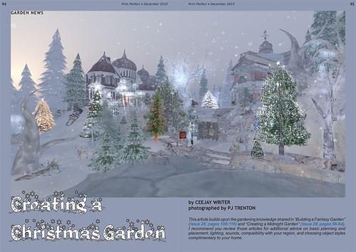 Prim Perfect: No 30 - Creating a Christmas Garden
