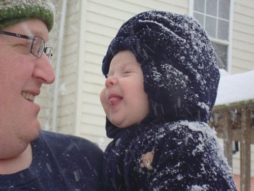 O snow on tongue