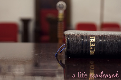 Holy Bible on the Altar