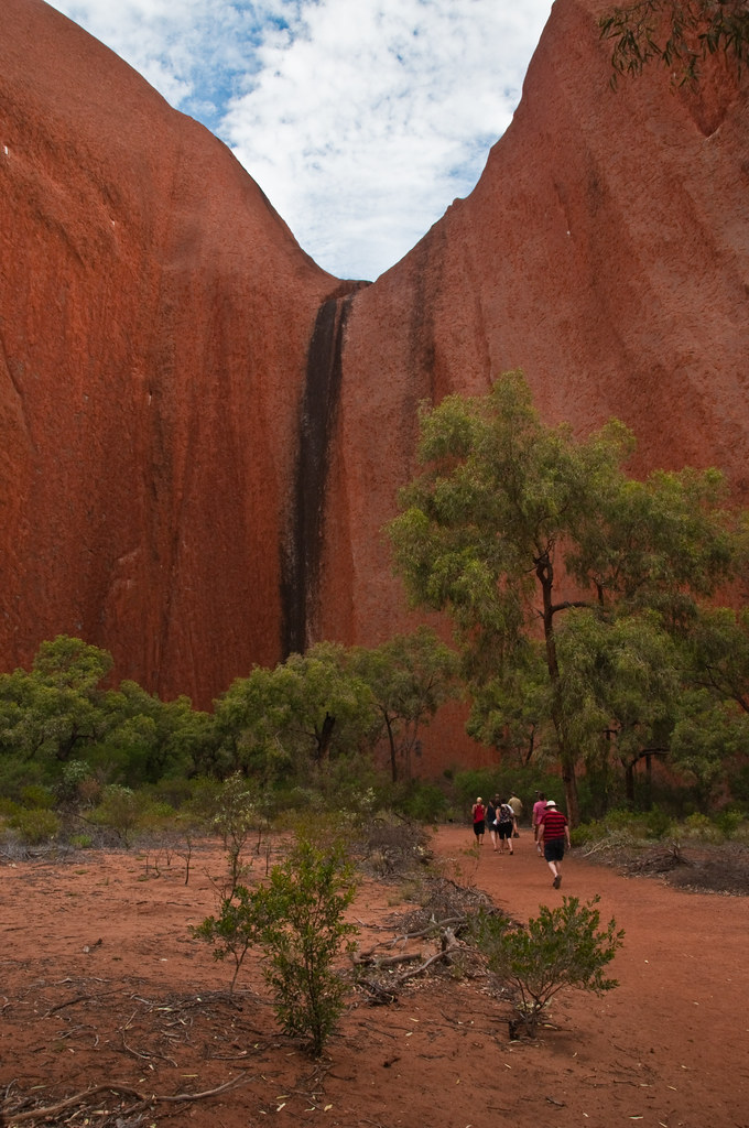 Walking to the base of Uluru