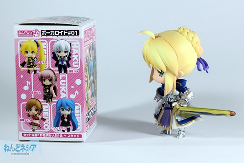 Saber-chan finally found the colorful box