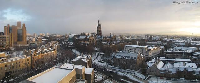 Snowy Panorama of the University