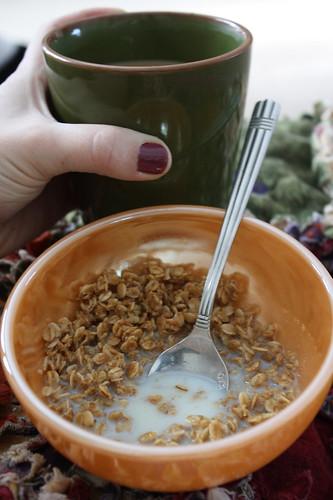 Jessica's gluten free granola, coffee