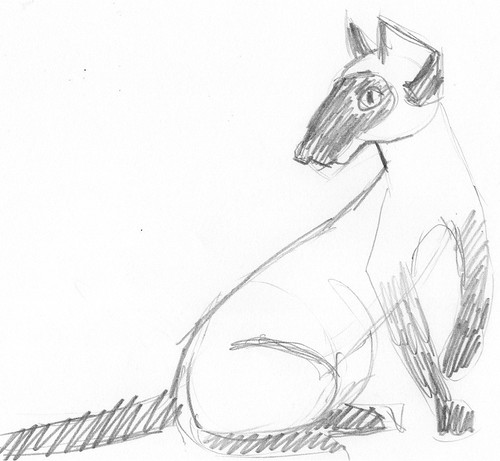 Pencilcast 2011-01-19 - Siamese cat # 3
