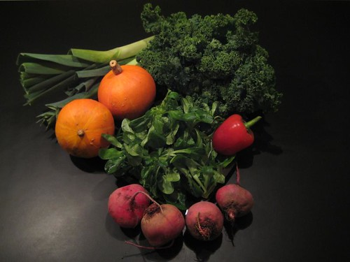 Amelishof organic CSA vegetables week 48, 2010