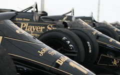 Line up of John Player Special liveried Lotus ...