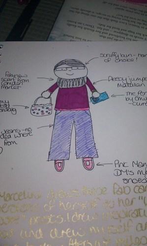 Me....a doodle (colour)