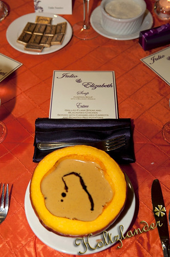 Menu card by Diamond Events with Pumpkin Soup