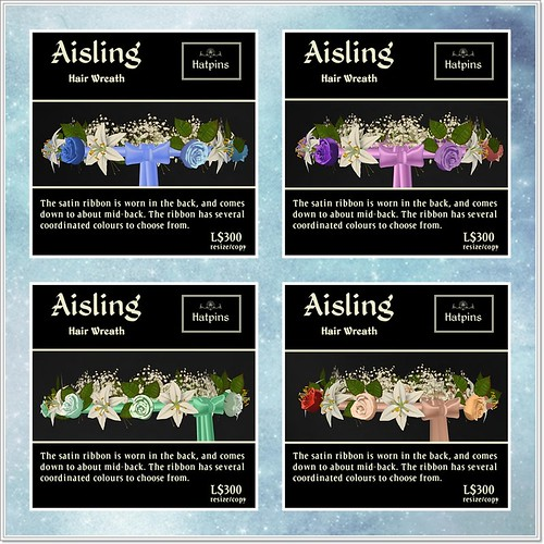 Hatpins - Aisling Wreath