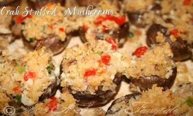 Easy Crab Stuffed Mushrooms — A Southern Fairytale_1300072688429