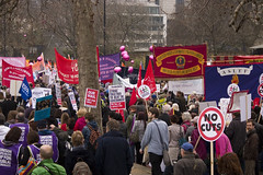 March for the Alternative - Sea of Banners