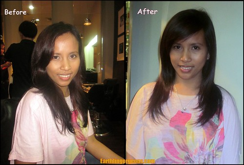 before and after the hairmakeover