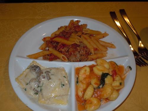Ristorante La Spada trio of pastas