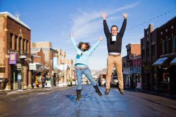 Elaine and Zeke Zelker, Main Street Park City, UT - Sundance 2011
