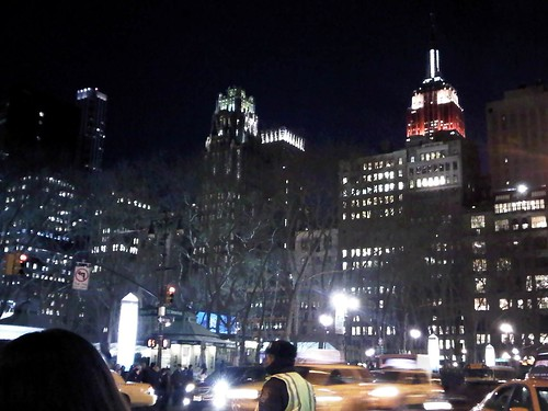 The Empire State Building on Valentine's day