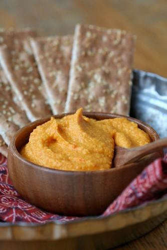 Carrot Hummus with Harissa 2
