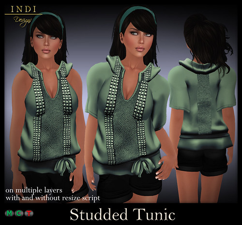Studded-Tunic-turquoise
